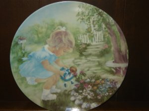 Stop and Smell the Roses collector plate 1st Edition Seems Like Yesterday series signed by artist