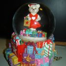 Go Red for Women musical holiday waterglobe Christopher Radko & Macy's 2004 bear music box AHA