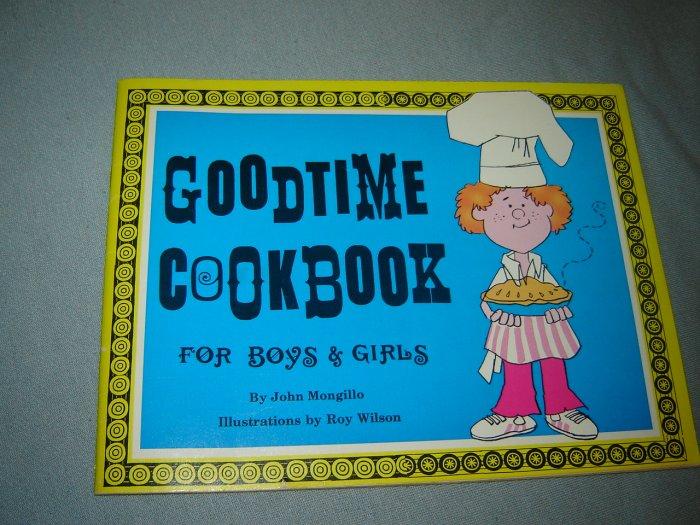 Goodtime Cookbook for Boys & Girls vintage childrens recipe book 1973