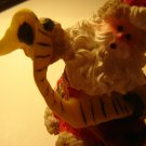 Santa with list figurine 3 inches tall vintage look hand painted Christmas holiday decor