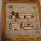 Wooden Accents craft project kit Christmas Tea pre-cut wood shapes buttons wire NEW in package