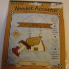 Wooden Accents holiday craft project kit Noel angel pre-cut wood shapes wire NEW in package
