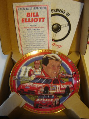 Bill Elliott collector plate 1994 Drivers of Victory Lane collection Hamilton NIB with COA
