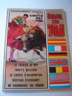 vintage bullfight souvenir program Costa del Sol Spain 1967 excellent condition FREE SHIPPING