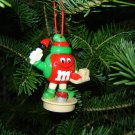red M & M Christmas tree ornament holiday collectible FREE SHIPPING