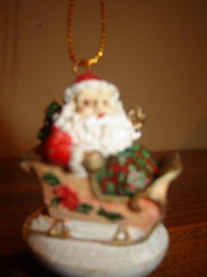 Santa & reindeer mini wind chime Christmas ornament holiday decoration PLUS Free bonus windchime