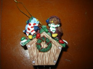 birds birdhouse Christmas wind chime ornament holiday decoration