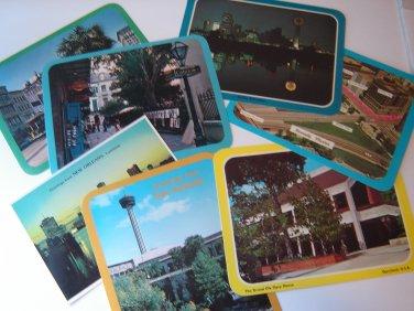 vintage postcard assortment 50+ Niagara Falls San Francisco Texas Atlantic City lots more