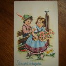 vintage postcard Sinceri Auguri printed in Italy Cecami 1137 unused excellent condition