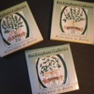 kitchen tile wall decorations herbs thyme rosemary sage oval ceramic 2.5 X 3.5 set of 3