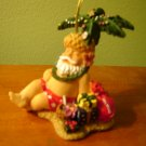 Hawaiian Sleeping Santa Christmas tree ornament tropical palm tree NEW in box
