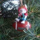 football player mouse Christmas ornament Santa's Best 1992 Lustre Fame Ltd