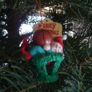 basketball elf Christmas ornament holiday decoration 1992 Santa's Best