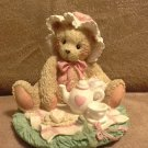 "Cherished Teddies Marie ""Friendship is a Special Treat"" bear with teapot figurine"