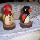Handcrafted Wooden Penguins  (2)