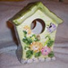 Ceramic BirdHouse, green or blue.