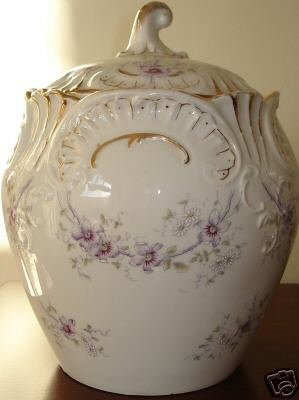 Smooth Porcelain Dresden Cracker Jar