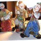 Trio of Street Clowns