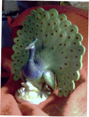 Injured Lefton Porcelain Peacock