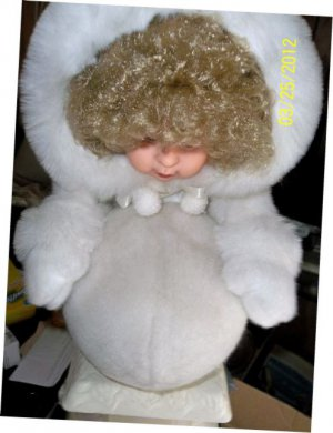 Animated Doll with Moving Snowball /price reduced/