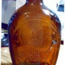 Amber Log Cabin Syrup Bottle