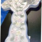 Hanging or Desk Ceramic Cross with Ribbon