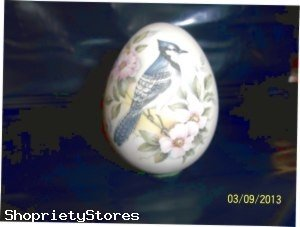 3 inch stone egg, Bluejay