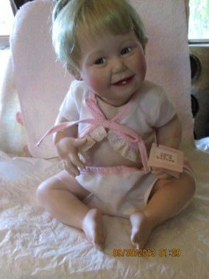 Ashton Drake Porcelain Baby Doll 'Cute as a Button' w/ COA