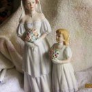 Porcelain Bride & Flower Girl Figurine -1405