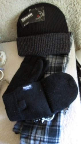 Men's Winter Set. Hat, Mitten/Glove & Scarf/ All New w/tags