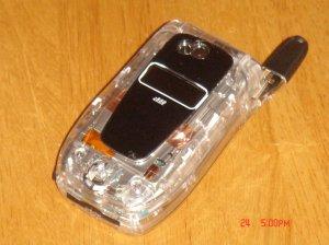 NEW i850 L. E. Nextel Clear Black Phone W/2-Batteries!!