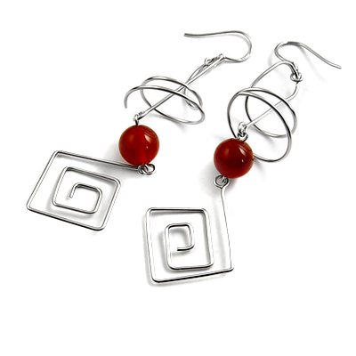 24905-Sterling silver earrings