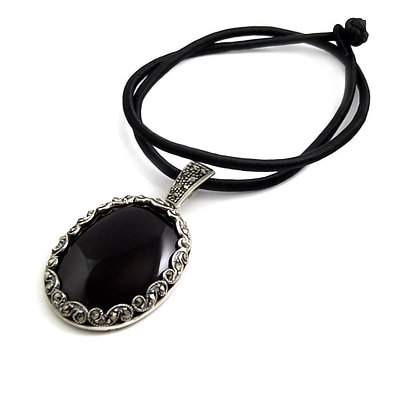 24933-Thailand silver necklace with Agate inlay