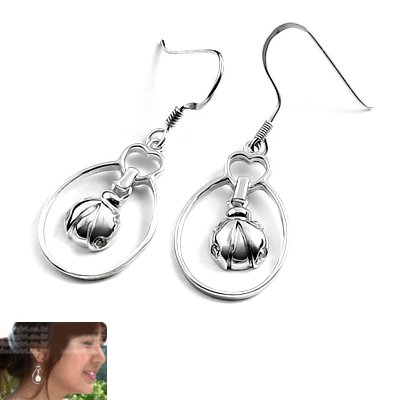 24062- sterling silver platium plated earring