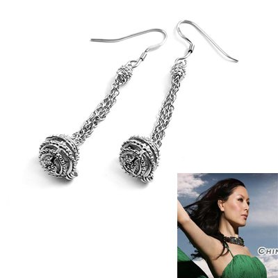 24171-sterling silver platium plated earring