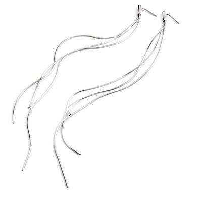 24432-sterling silver platium plated earring