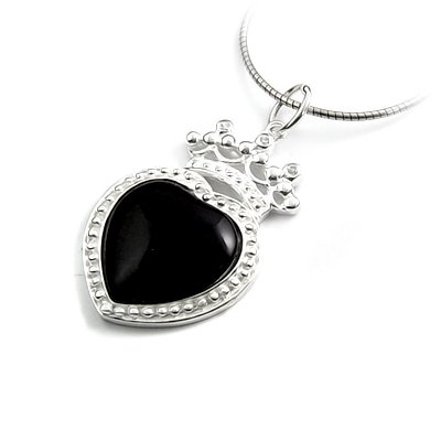 24463-sterling silver with agate pendant