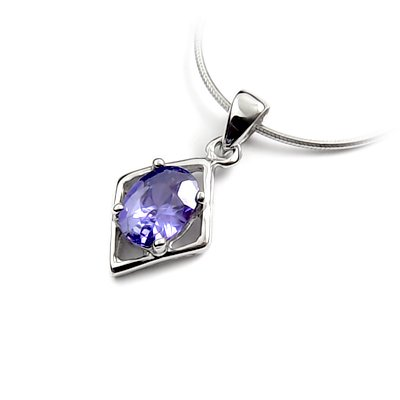 24466-Sterling silver with rhinestoe pendant