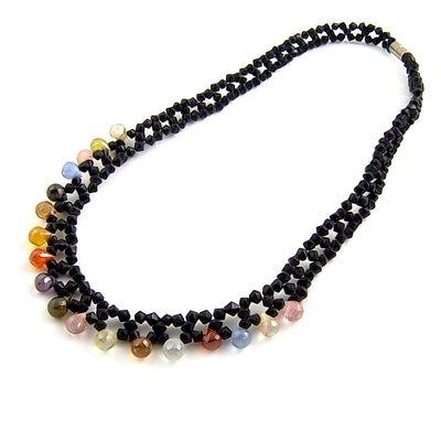 24496-rhinestoe with crystal necklace