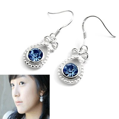 24501-Sterling silver with rhinestoe earring