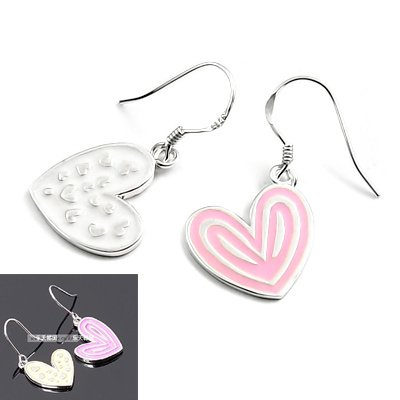 24505-Sterling silver with glaze earring
