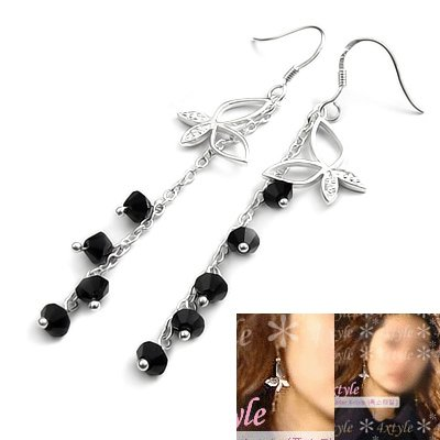 24511-sterling silver with crystal earring