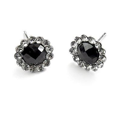 24513-sterling silver with  rhinestoe earring