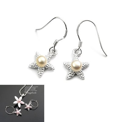 24514-sterling silver with pearl  earring