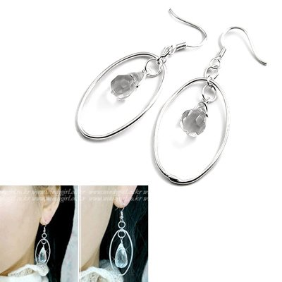 24516-sterling silver with crystal earring