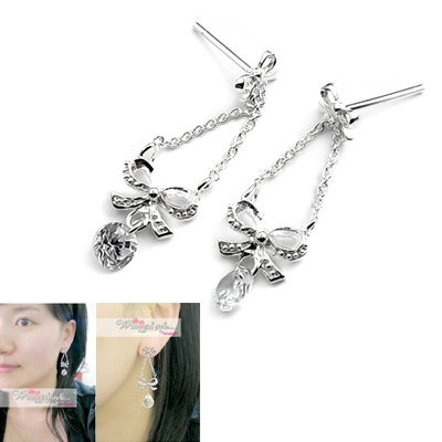 24519-sterling silver with crystal earring