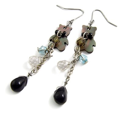 24571-alloy with acrylic earring