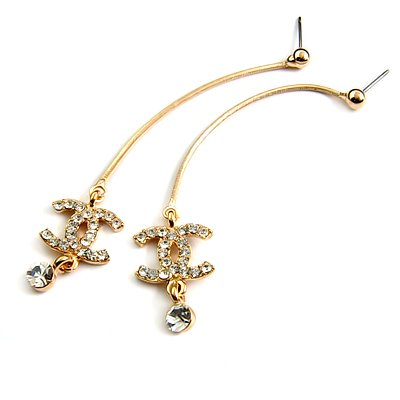 24580-alloy with rhinestoe earring