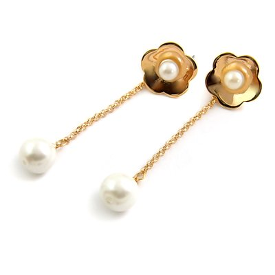 24584-alloy with artificail gemstone earring
