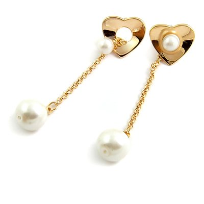 24585-alloy with artificail gemstone earring